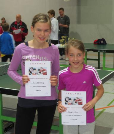 Melissa Horn/Anna Klötzing BM 2013 Doppel 3.Platz