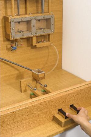 Modell von elektrischer und pneumatischer Traktur