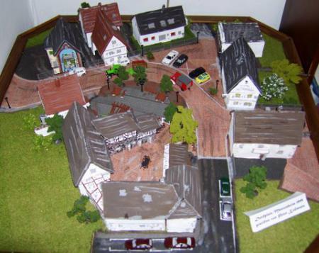 Modell-Dorfplatz