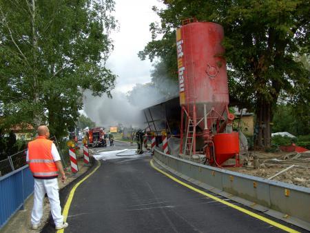 Brand am 10.9.2008 bei der Sanierung der Peenebrücke