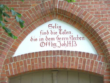 Inschrift Kapelle Schlakendorf