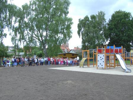 Einweihung des Spielplatzes am 30.7.2010