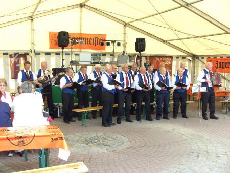 Auftritt des Männerchors zum Stadtfest am 12.6.2011