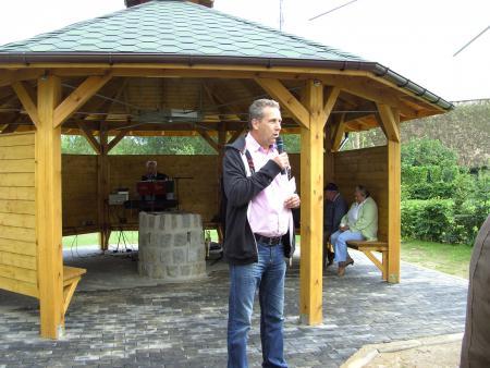 Einweihung der Grillhütte am Hafen am 23.7.2011