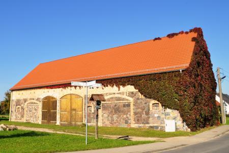 Feldsteinbauwerk in Obersdorf