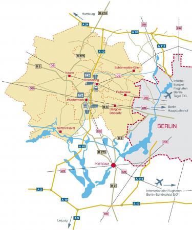 Karte Infrastruktur