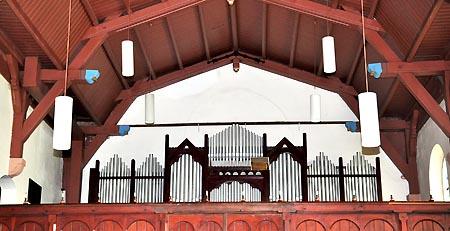 Orgelempore der Christuskirche Ziebigk.