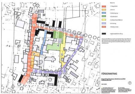 Ortskernsanierung Lageplan