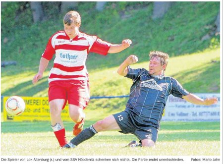 Fussball Lok I gegen Nöbdenitz II
