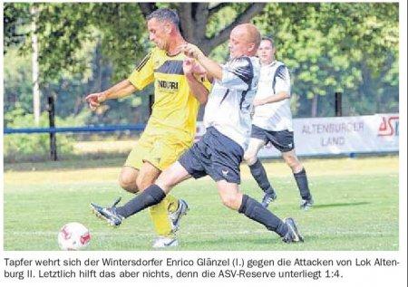 Fussball Lok II gegen Windersdorf II