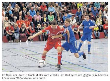 OVZ 2013.01.07 Fussball 16.Neujahrsturnier Bild Spiel um Platz 3