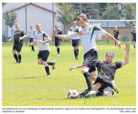 OVZ 2013.06.26 Fussball Lok II gegen Gerstenberg-Hasselbach Lok gewinnt Nachholespiel Bild