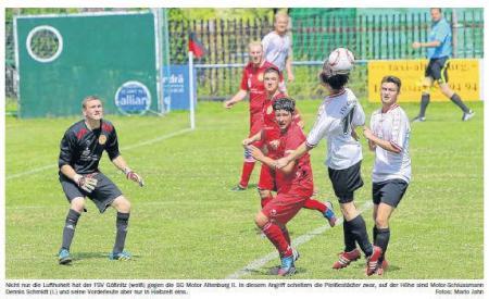 OVZ 2013.07.24 Fussball Testspiel SG Lok II gegen FSV Gößnitz Bild