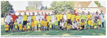 OVZ 2013.07.29 Fussball Benefizspiel SG Lok I gegen TSV Windischleuba Bild