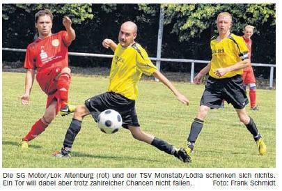 OVZ 2013.08.06 Fussball Motor-Lok II Testspiel gegen Kreisoberligist Monstab Bild