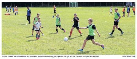 OVZ 2013.08.22 Fussball Nachwuchs-Fußballcamp bei Lok Bild.
