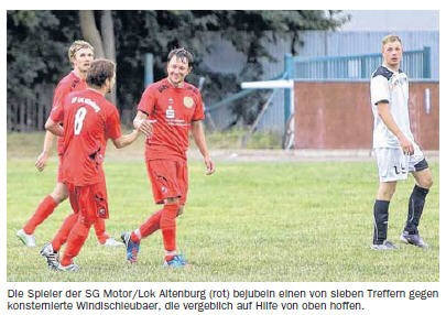 OVZ 2013.09.04 Fussball SG Motor-Lok II feiert 7-1 Triumph gegen TSV Windischleuba Bild