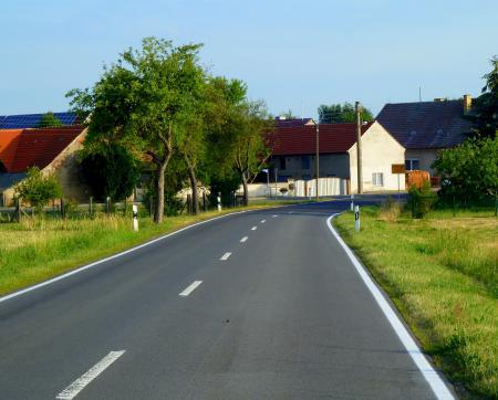 Blick aus Richtung Kolochau