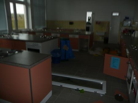 Das Küchenfenster an seinem neuen Platz