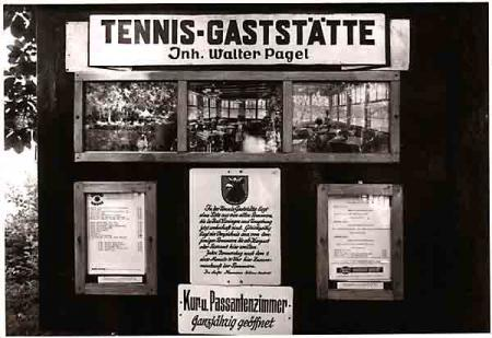 Tennis-Café 1950, Fam. Pagel