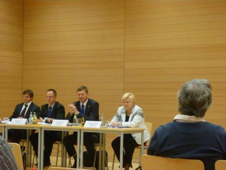 Pressekonferenz (vlnr: Steffen Reuner, Mirko Förster, Siegurd Heinz, Christiane Paulan)