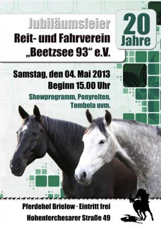 Plakat 20 Jahre RFV