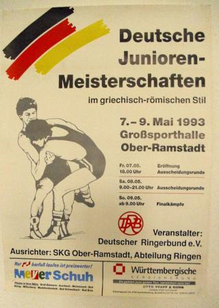 Plakat DM Junioren 1993