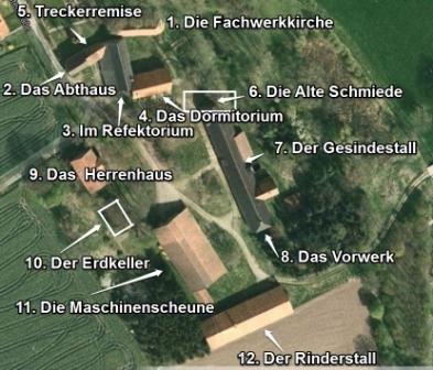 Plan Gebäude Kloster