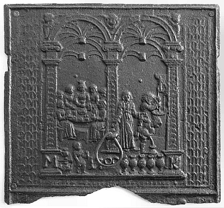 Die Hochzeit zu Kana. Ofenplatte, 1700