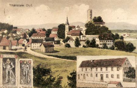 Historische Postkarte Thanstein