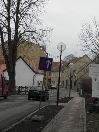 Neue Engstelle vom Schenk von Landsberg kommend