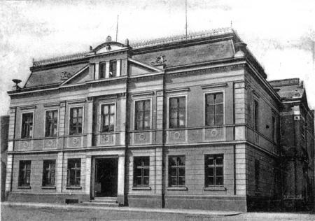 Das Rathaus auf einer Ansichtskarte um 1900