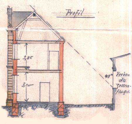 Zeichnung vom 25.11.1897 zum Anbau des Sparkassengebäudes an das Rathaus (4)