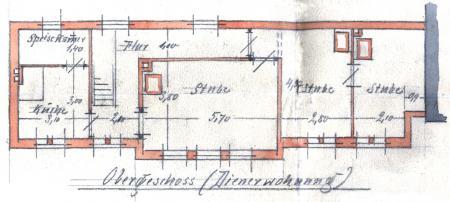 Zeichnung vom 25.11.1897 zum Anbau des Sparkassengebäudes an das Rathaus (3)