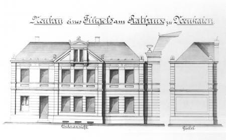Zeichnung des Maurermeisters Wilhelm Harm Dezember 1897