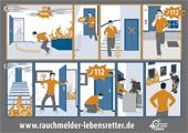 Fluchtweg-Comic