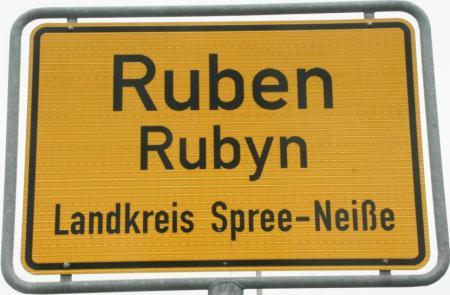 Ortsschild Ruben