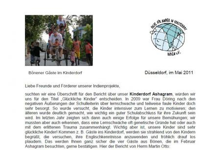 Rundbrief Mai 2011