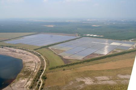 Luftbild Bau Solarbark Finsterwalde I vom 22.09.