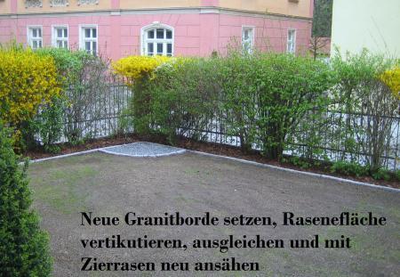 Granitborde und Rasenflächeninstandsetzung Bautzen