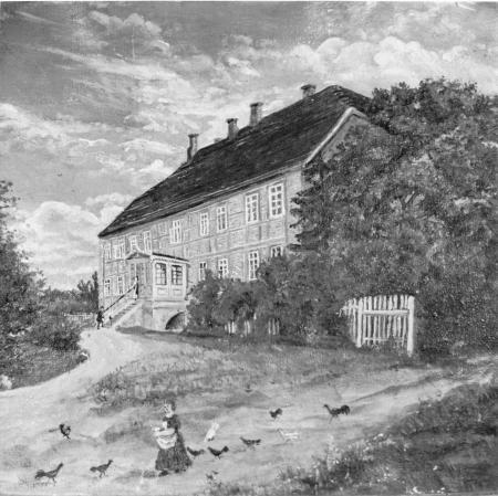 Gemälde des Gutshauses in Schlakendorf (vor 1945)