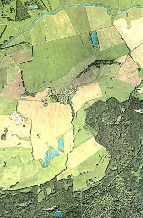 Luftansicht der Feldmark Schlakendorf (von Google)