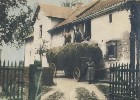 Das Elternhaus von Magdalena Schwarz, geb. Streibel in Wiese-gräflich, 1938
