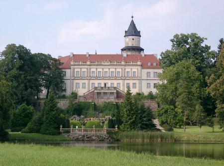 Schloss Wiesenburg Blick vom Park