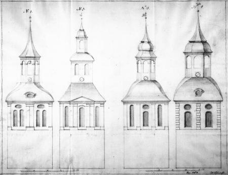 Weitere Entwürfe für den Kirchturmbau in Schorrentin von 1767