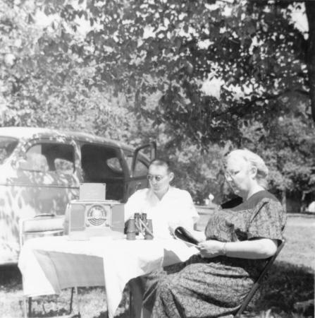 Ewald und Erna Schroeder in Amerika, im Sommer 1949