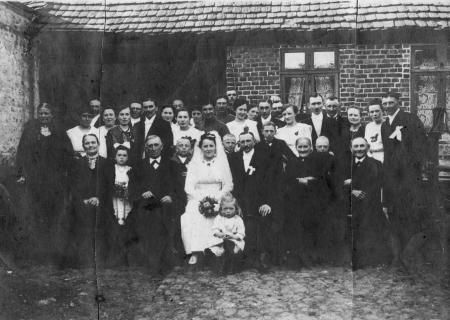 Hochzeitsfoto Betty Schefoth und Paul Schröder, 22.4.1919