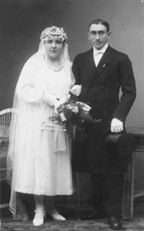 Hochzeitsfoto Erna Schmidt und Ewald Schröder, 29.1.1926