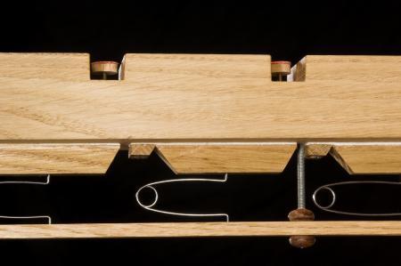 Schublade einer Springlademit geschlossenen Ventilen