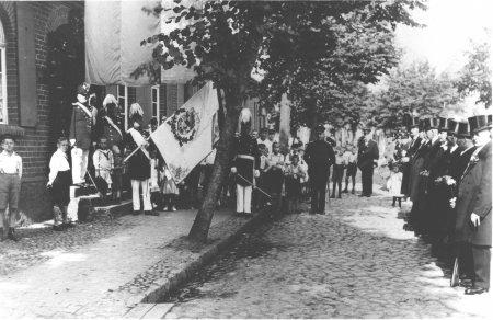 Schützenfest 1927, Abholung Hartwig Fischer, in der Bahnhofstraße